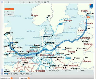 Drive from England to Estonia