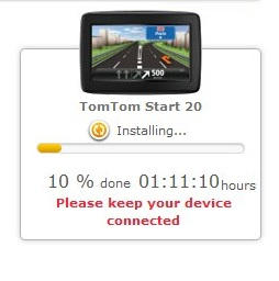 TomTom map installation